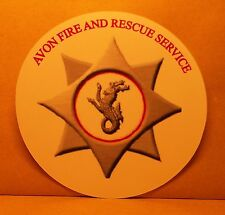 Fire and Rescue Service Avon vinyl sticker personalised..