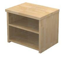 Nachttisch, Nachtschrank, Ablage, Buche 27mm Holz Massiv Massivholz Echtholz