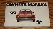 Original 1972 Chevrolet Vega Owners Operators Manual 72 Chevy