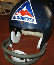 MONTREAL ALOUETTES CFL CANADIAN FOOTBALL LEAGUE 1974 Vintage Riddell Mask HELMET
