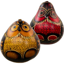Kheops International - Gourd Shakers Owl (Set of 2) (31185)