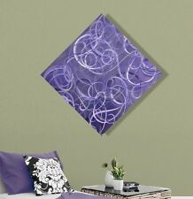 Contemporary Purple Abstract Metal Wall Art Home Decor - Plum Chaos by Jon Allen