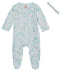 New Ted Baker Baby Girls Cherry Blossom Floral Romper Sleepsuit Set 12-18 Months