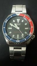 Seiko Diver Vintage Watch 7002 Automatic Pepsi (Red Blue) - Great Condition