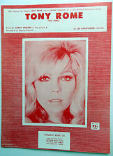 NANCY SINATRA Sheet Music TONY ROME Criterion Publ. 60's POP Vocals FRANK
