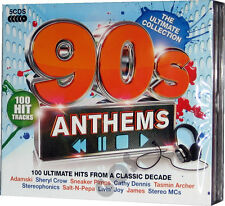The Ultimate Nineties Anthems 5 CD Songs 1990s Music Tracks Original Recordings