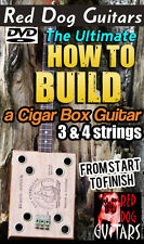 Build a Cigar Box Guitar DVD lesson 3 & 4 string great for your parts kit or amp