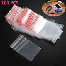 "100PCS Lots Ziplock Plastic Zipper Clear Bags 1.5""X 2"" Jewelry package mini #0"
