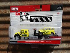 Maisto Elite Transport International DuraStar Flatbed Scion xB 1:64 Scale Truck