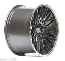 "ULTRALITE UL2 18"" 10.5J ET40 5x112 5x100 GUN METAL LIP MESH ALLOY WHEELS Y3033"
