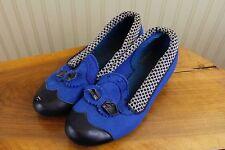 Vintage 40s Jc Penney Wool Felt Rockabilly 2 Tone Shoes, 6