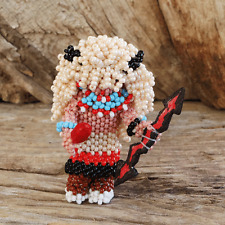 Native American Beadwork Zuni Beaded Buffalo Dancer Farlan & Alesia Quetawki