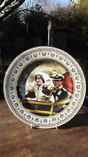 1981 Charles & Diana Wedding Day Crown Staffs Gold Lattice Border  Plate Ltd ed