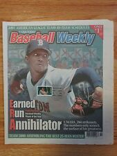 PEDRO MARTINEZ Baseball Weekly 2001 CANCELED w/ Induction Stamp Magazine RED SOX