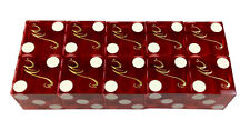 2 Sticks of Used CASINO RED DICE (10) MANDALAY BAY HOTEL AND CASINO Las Vegas