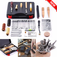 Leather Craft Tools 59 Pc Hand Stitching Sewing Stamping Set Saddle Making Tool