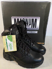 MAGNUM 5147 STEALTH FORCE BLACK LEATHER UPPER BOOTS women's SIZE 5 PLAIN TOE