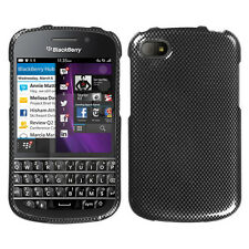 For BlackBerry Q10 HARD Protector Case Snap On Phone Cover Carbon Fiber