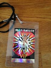 Iron maiden backstage pass crew laminate
