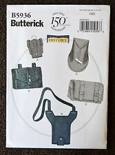 B5936 Making History PATTERN Pouch Leather Bags Gauntlet Butterick Renaisance