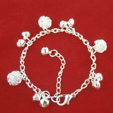Shine Silver plating Bell Ball Charm Chain Bracelet Jewelry Anklet Simple