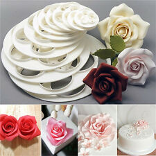 6x Fondant Cake Sugar Craft Decor Cookie Rose Flower Mold Gum Paste Cutter Tool!
