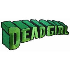 Dead Girl Green Tag Zombie Horror Kreepsville Embroidered Iron On Applique Patch