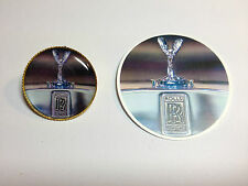 ROLLS ROYCE MOTORS   GOLD PLATED BADGES + FREE R.R. STICKER