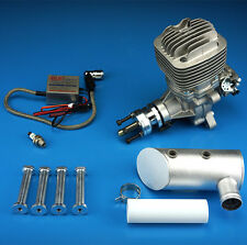 DLE-61cc Engine For Gas RC Airplane W/ Exhaust & Ignition 6HP/7500rpm 1400 rpm/m