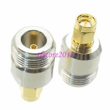 1pce Adapter Connector N female jack to SMA male plug straight for WIFI antenna