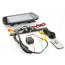 "7"" LCD Screen Car Rear View Backup Mirror Monitor+Wired Reverse IR Camera Kit"