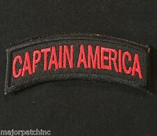 CAPTAIN AMERICA ARMY TAB ROCKER INFIDEL MORALE BLACK OPS RED HOOK & LOOP PATCH