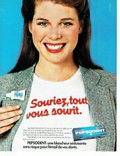 PUBLICITE ADVERTISING 027  1979  le dentifrice Pepsodent au fluor  souriez