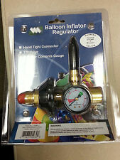 HELIUM  HAND TITE BALLOON INFLATOR REGULATOR WITH GAUGE - NEW