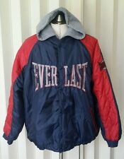 RARE Vintage 90s Men's Everlast SPELLOUT Hoodie Windbreaker Sport Jacket L polo
