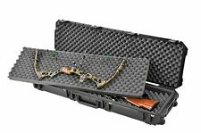 BLACK SKB Double Bow /  Rifle case With & Pelican TSA- 1750 lock. With foam.
