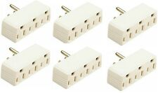 (6) Pass Seymour 697ICC20 15A 125V Ivory Plug In 3 Way Electrical Outlet Adapter