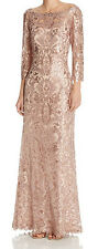 Tadashi Shoji New Sequin Lace Gown Size 10 MSRP $508 #HN 293