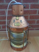 Stunning Large Victorian Ships Lamp / Lantern - Brass and Copper - Converted