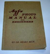 VINTAGE AGFA PHOTO MANUAL FOR BEGINNERS