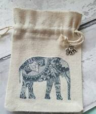 BUDDHA ELEPHANT GIFT BAG wedding favour drawstring handmade with charm