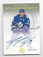 2013-14 SP autographed hockey card Dion Phaneuf, Toronto Maple Leafs #20/35
