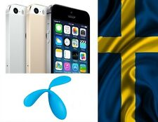 Factory Unlock iPhone 4 4s 5 5c 5s 6 locked to Telenor SWEDEN