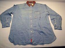 Vintage Abercrombie & Fitch Casual Denim Button Down Shirt Men's Size L