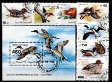 Enten. 7W+Block. Gest. Jemen Republik 1990