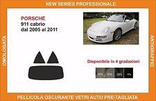 pellicola oscurante vetri pre tagliata porsche 911 cabrio dal 2005-11 kit post