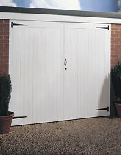CHEAP JELDWEN SIDE HUNG TIMBER GARAGE DOOR PAIR 2134MM x 2134MM (7'x7')