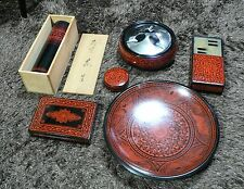JAPANESE TRADITIONAL VINTAGE WOOD INTERIOR ACCESSORY SET JAPAN