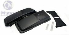 Mutazu Matte Denim Black CVO Speaker Lids 6x9 for Harley FLHR FLHT FLTR 94-2013