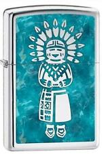 Zippo 28049 indian hp chrome RARE & DISCONTINUED Lighter